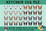 Boston Terrier Head Collection SVG