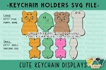 Cute Keychain Cards and Holders SVG