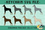 Doberman Pinscher Collection SVG