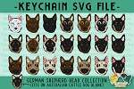 German Shepherd Head Collection SVG