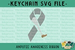 Amputee Awareness Ribbon SVG