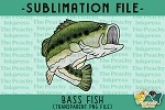 Bass Fish Sublimation Design