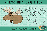 Bull Moose Head SVG
