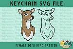 Female Deer Head SVG