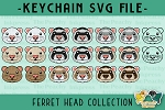 Ferret Head Collection SVG
