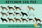 German Shepherd Full Body Collection SVG
