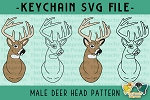 Male Deer Head SVG