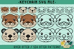 River Otter / Sea Otter Head Collection SVG