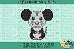 Sitting Opossum Pattern SVG