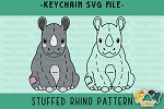 Stuffed Rhino Pattern SVG