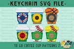 To Go Coffee Cup Pattern SVG Set 2