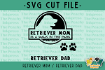 Retriever Mom Dad SVG