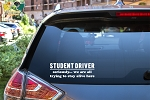 Student Driver Funny Decal