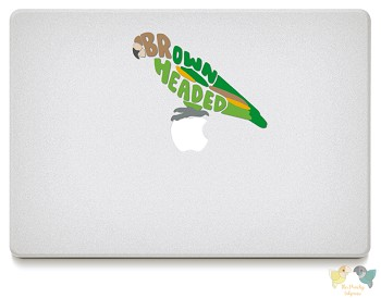 Brown Headed Parrot Vinyl Decals